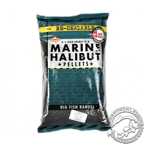 Пеллетс Dynamite Baits Marine Halibut Pellets 4mm 900gr Палтус