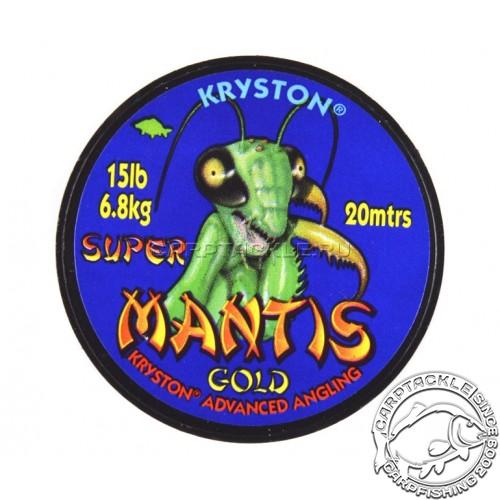 Поводковый материал Kryston SUPER MANTIS GOLD песочный 15LB 20м