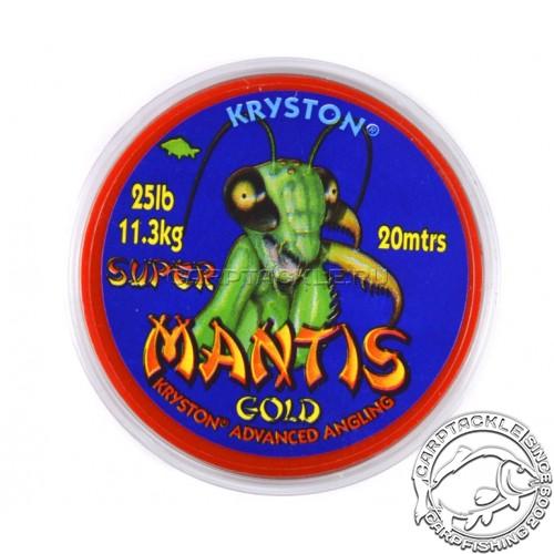 Поводковый материал Kryston SUPER MANTIS GOLD песочный 25lb 20m