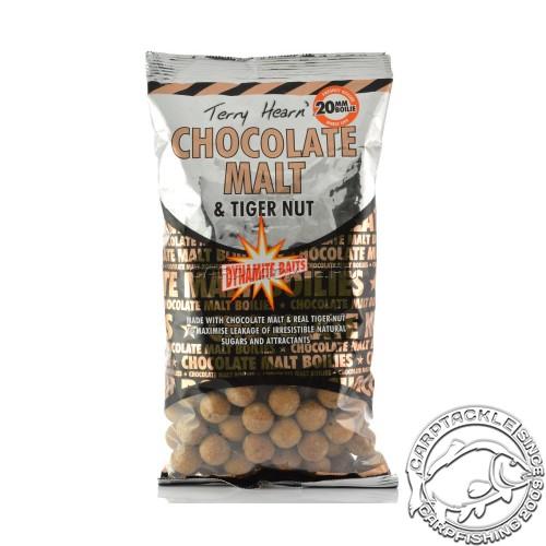 Тонущие бойлы 20мм Dynamite Baits Chocolate Malt & Tiger Nut 20mm 1кг Шоколад с Орехами