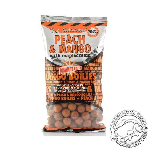 Тонущие бойлы 20мм Dynamite Baits Peach & Mango 20mm 1кг Персик с Манго