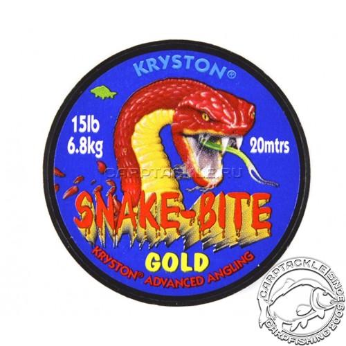 Поводковый материал Kryston SNAKE-BITE GOLD песочный 15LB 20м