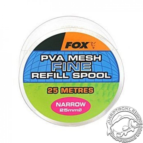 Super Narrow 25m/14mm Refill Refill Spool Fine Mesh быстро растворимая сетка. запаска