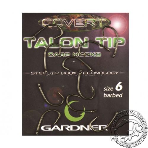 Крючки карповые размер №6 Gardner Covert Wide Gape Talon Tip