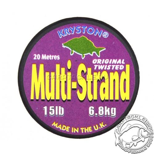Поводковый материал KRYSTON MULTI-STRAND Original Twisted 15lb 20м