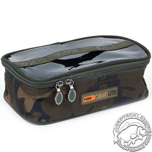Cумка для аксессуаров с прозрачной крышкой средняя Fox Camolite Accessory Bags - Medium