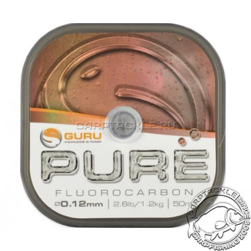 Поводковый материал Guru Pure Fluorocarbon 0.12мм 2,6lb