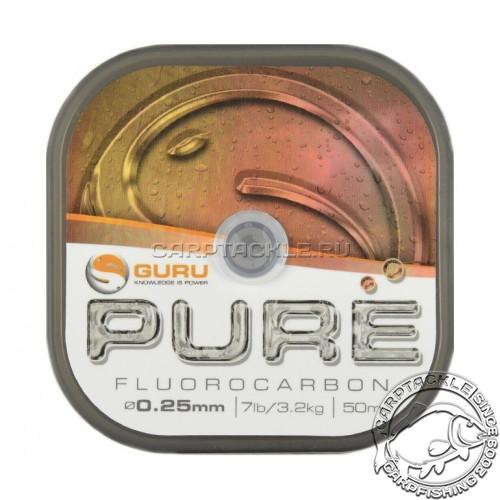 Поводковый материал Guru Pure Fluorocarbon 0.25мм 7lb