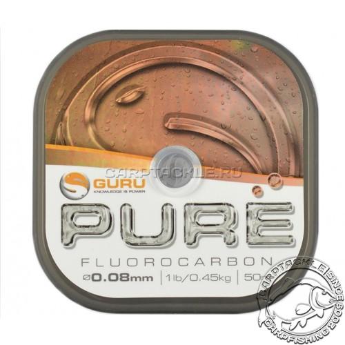 Поводковый материал Guru Pure Fluorocarbon 0.08мм 1lb