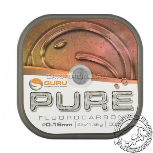 Поводковый материал Guru Pure Fluorocarbon 0.16мм 4lb