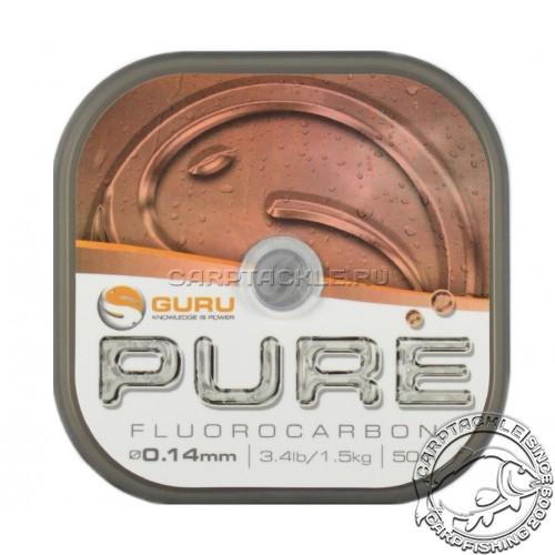 Поводковый материал Guru Pure Fluorocarbon 0.14мм 3,4lb