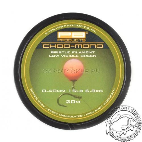 Поводковый материал PB Products Chod Mono 0.40mm 15lb 20m