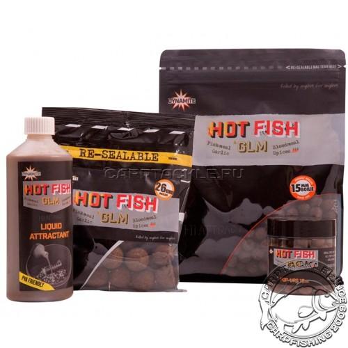 Тонущие бойлы 15мм Dynamite Baits Hot Fish & GLM 15mm 1kg Специи с новозеландской зеленой мидии