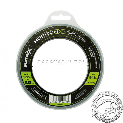 конусный шок-лидер Matrix Horizon X Tapered Shock Leader 8lb/12lb 12m