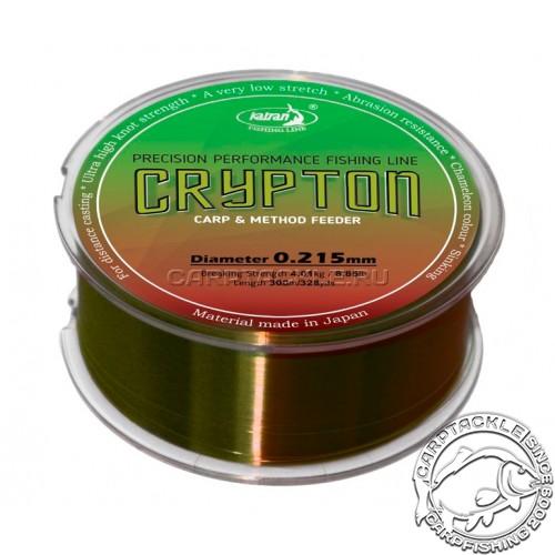 Леска Katran Crypton Carp & method feeder 300м 5,7кг/0,261мм
