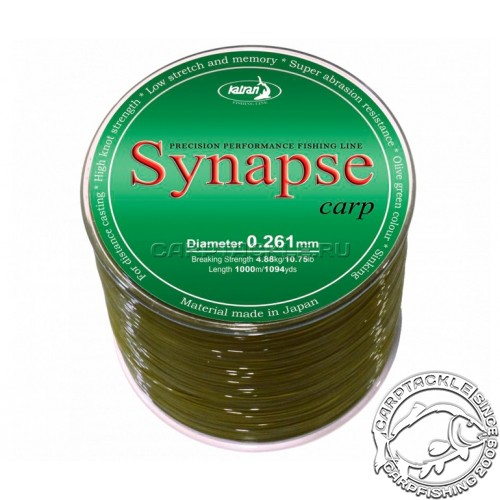 Леска Katran Synapse Carp 1000м 5,8кг/0,286мм Темно-зеленая