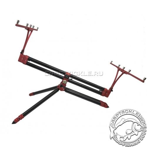 Род-под на четыре удилища цвет чёрный, красные перекладины Meccanica Vadese Technick Evolution
