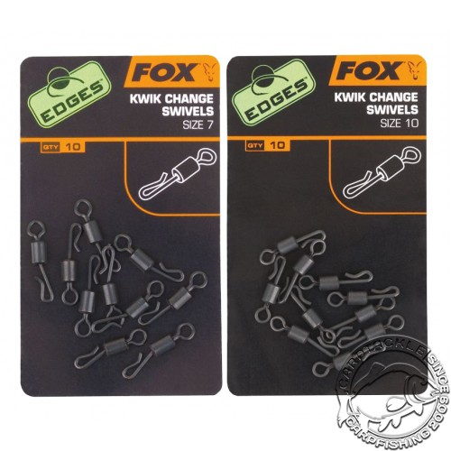 Вертлюги на кольце с быстросъемом Fox EDGES KWIK CHANGE O RING SWIVELS