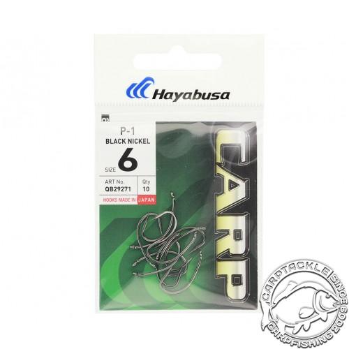 Крючки карповые черный никель размер №6 Hayabusa P-1