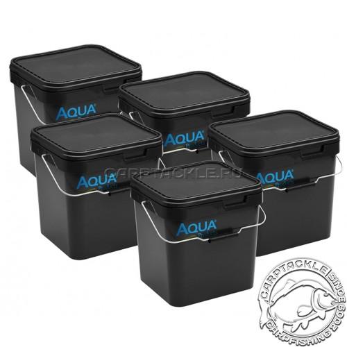 Ведро для прикормки черное с логотипом Aqua Products Bucket