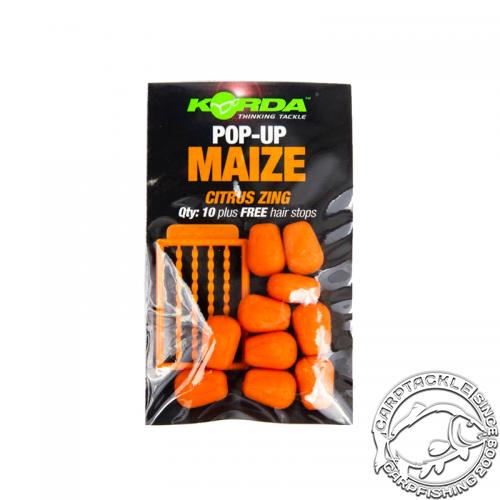 Искусственная плавающая приманка Korda Pop Up Citrus Zing Orange кукуруза с ароматом цитруса