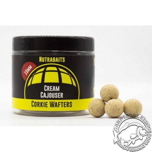 Бойлы нейтральной плавучести Nutrabaits Cream Cajouser Corkie Wafters 15mm