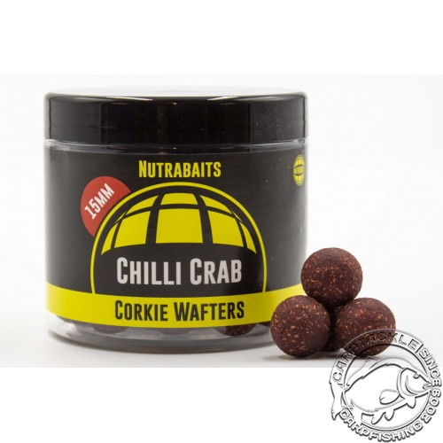Бойлы нейтральной плавучести Nutrabaits Chilli Crab Corkie Wafters 15mm