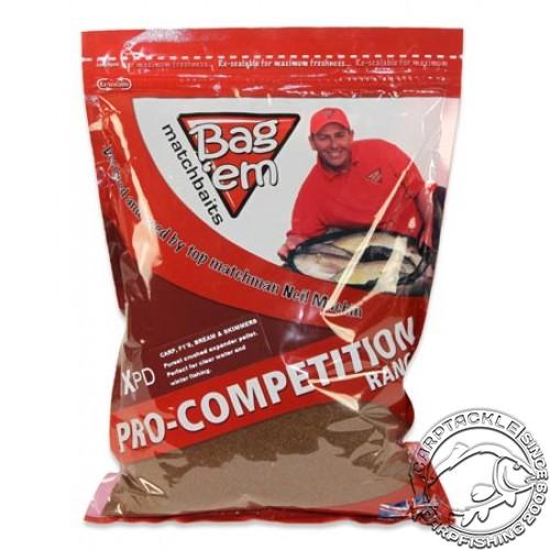 Прикормка сыпучая BAG EM Feeder Specimen Groundbait 900g донная