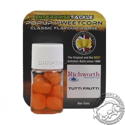 Искусственная плавающая насадка Enterprise Tackle Pop Up Sweetcorn Richworth Tutti Frutti Тутти Фрутти