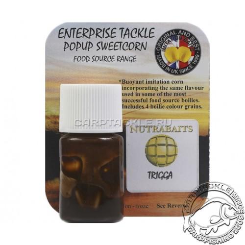 Искусственная плавающая насадка Enterprise Tackle Pop Up Sweetcorn Nutrabait Trigga Yellow