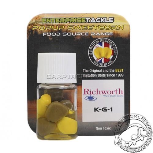Искусственная плавающая насадка Enterprise Tackle Pop Up Sweetcorn Richworth KG1 yellow