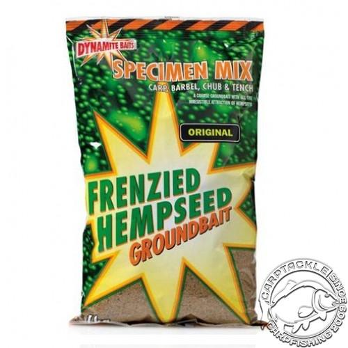 Прикормочная смесь Dynamite Baits Frenzied Hempseed Groundbait Specimen Mix Original 1kg Прикормка на основе дробленой конопли