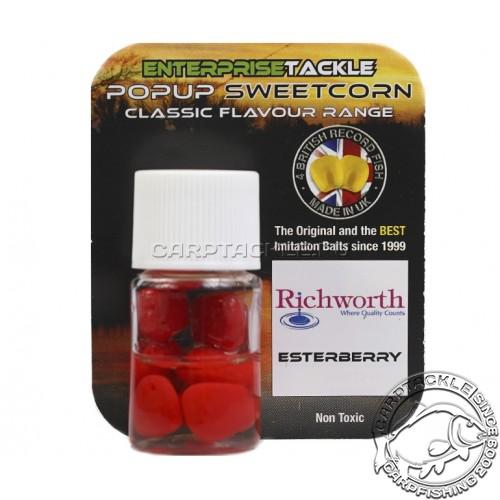 Искусственная плавающая насадка Enterprise Tackle Pop Up Sweetcorn Richword Esterberry Red Земляника