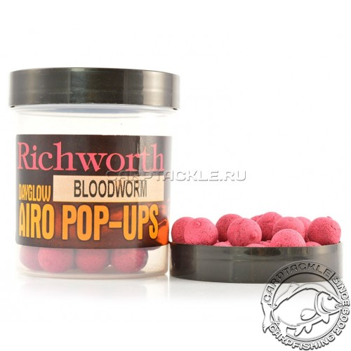 Плавающие бойлы 14мм Richworth Bloodworm Airo Pop-Ups 14mm Мотыль