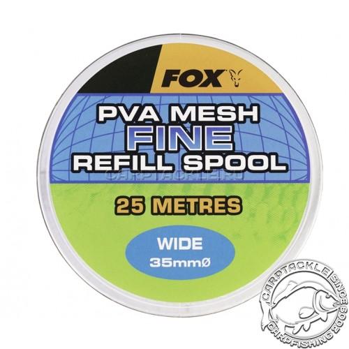 ПВА сетка Fox PVA Mesh Fine Refill Spool Wide 35mm/25м