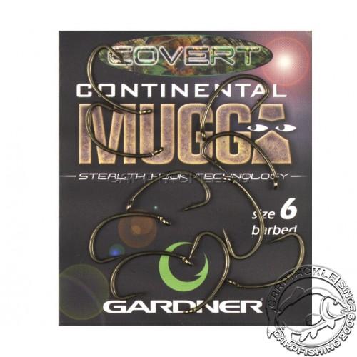 Крючки карповые размер №6 Gardner Covert Longshank Mugga