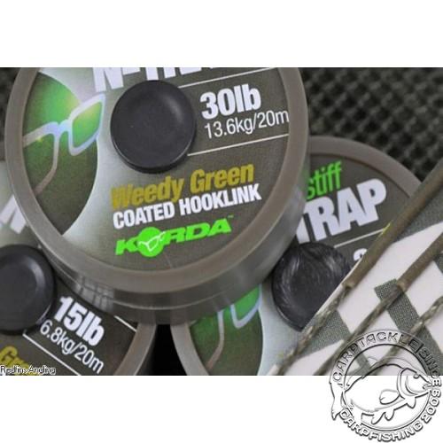 Поводковый материал Korda N-Trap Soft 30lb Weedy Green
