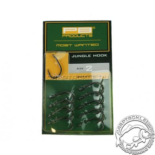 Крючки карповые PB Products Jungle Hook №2 DBF