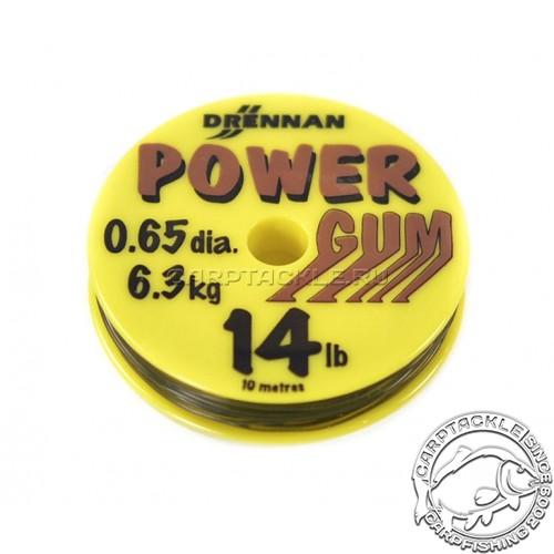Резина для фидерной оснастки Drennan Powergum Brown 14lb 6.3 кг