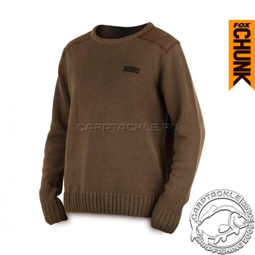 CHUNK™ Heavy Knit Jumper - Large Khaki свитер