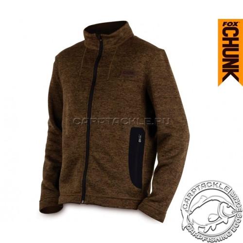 CHUNK™ Medium Knit Cardigan - XXX Large Khaki Marl куртка трикотажная на молнии