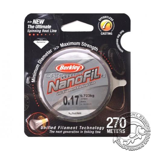 Шнур Berkley Nanofil 0.17mm 270m Red
