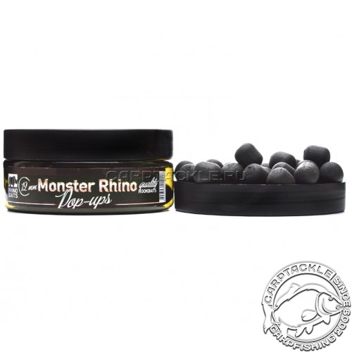Плавающие бойлы 12мм Rhino Baits Monster Rhino Black Pop-Ups Монстер Краб со Специями