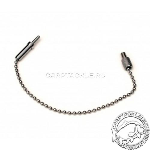 Цепочка для механических сигнализаторов 20см черная Taska Stainless Jet Black Ball Chain 8