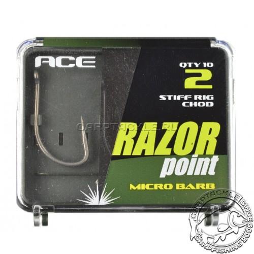 Крючки размер №2 ACE Stiff Rig/chod SRC